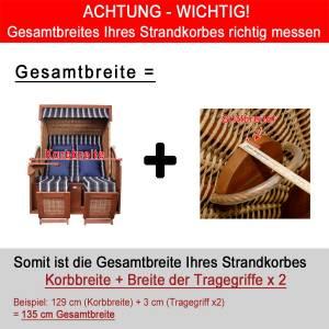 deVries CLASSIC STRANDKORB GANZJAHRESHAUBE - XL - Bild 3