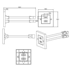 LOGILINK HDMI ANSCHLUSSDOSE 2-FACH Bild 2