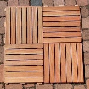 144 STÜCK HOLZFLIESE BANGKIRAI à 50 x 50 cm = 36 m² Bild 3