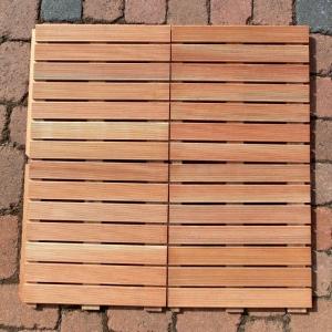 144 STÜCK HOLZFLIESE BANGKIRAI à 50 x 50 cm = 36 m² Bild 4