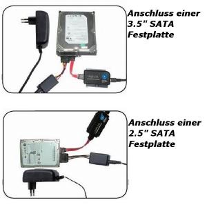 LOGILINK USB 3.0 AUF IDE SATA ADAPTER MIT OTB FÜR 2.5