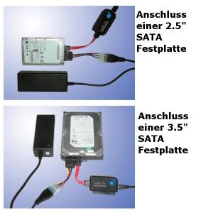 LOGILINK USB 2.0 AUF IDE SATA ADAPTER MIT OTB FÜR 2.5