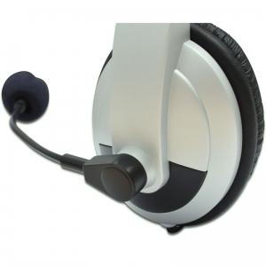 DIGITUS STEREO HEADSET MULTIMEDIA KOPFHÖRER MIKROFON 2x 3,5 mm KLINKE Bild 3