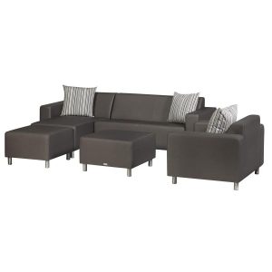 TRINITI® TOM LOUNGE SOFA CHAISELONGUE (LINKS) - METEOR BRAUN Bild 3
