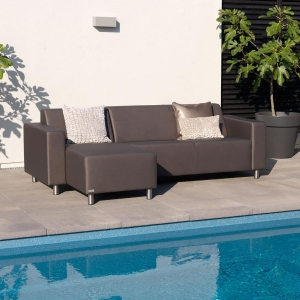 TRINITI® TOM LOUNGE SOFA CHAISELONGUE (LINKS) - METEOR BRAUN Bild 4