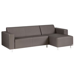 TRINITI® TOM LOUNGE SOFA CHAISELONGUE (RECHTS) - METEOR BRAUN