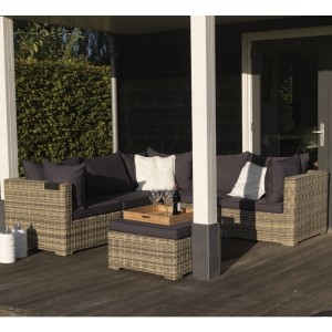 EXOTAN® RIMINI LOUNGE HOCKER / TISCH - NATUR GRAU - ALL WEATHER Bild 4