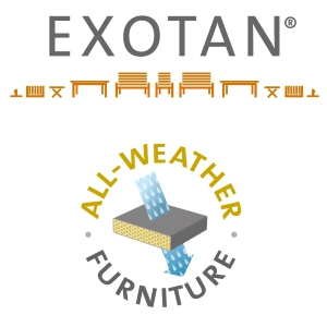 EXOTAN® RIMINI LOUNGE HOCKER / TISCH - NATUR GRAU - ALL WEATHER Bild 7