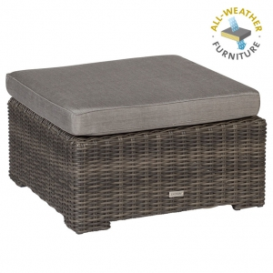 EXOTAN® RIMINI LOUNGE HOCKER / TISCH - DUNKELGRAU-BRAUN - ALL WEATHER