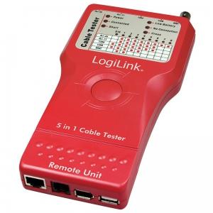 LOGILINK 5 IN 1 NETZWERK- UND KABELTESTER RJ-11 RJ45 LAN USB BNC Bild 2