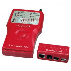LOGILINK 5 IN 1 NETZWERK- UND KABELTESTER RJ-11 RJ45 LAN USB BNC Bild 3