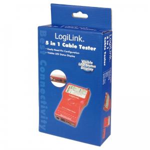 LOGILINK 5 IN 1 NETZWERK- UND KABELTESTER RJ-11 RJ45 LAN USB BNC Bild 5