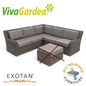 VIVAGARDEA® MONZA LOUNGE-SET DARK GREY ALL WEATHER