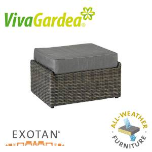 VIVAGARDEA® MONZA LOUNGE HOCKER / TISCH DARK GREY ALL WEATHER