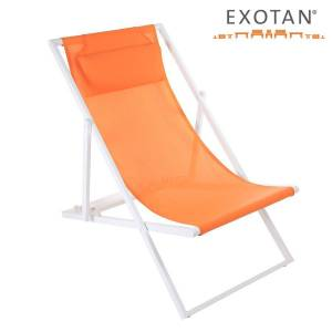 EXOTAN® ALUMINIUM BEACH CHAIR / LIEGESTUHL - ORANGE