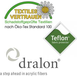 PL96: dralon® / Teflon™ PREMIUM AUFLAGE FÜR BANK 130 x 50 CM CAPPUCCINO Bild 5