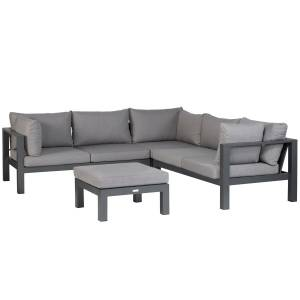 EXOTAN® NANOTEX CANNES LOUNGE SET - ANTHRAZIT / TAUPE