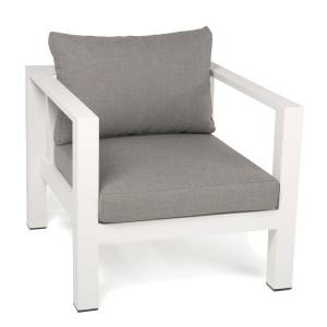 EXOTAN® NANOTEX CANNES LOUNGE SESSEL - WEISS / TAUPE