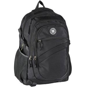 UNIVERSAL RUCKSACK 50x30x22 cm - PASO ORIGINAL COLLECTION - SCHWARZ
