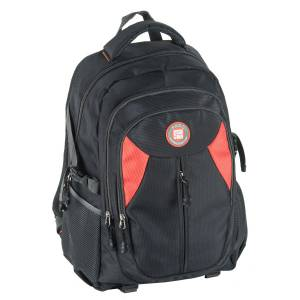 UNIVERSAL RUCKSACK 50x30x22 cm - PASO ORIGINAL COLLECTION - SCHWARZ / ORANGE