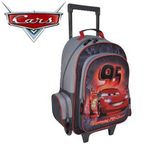 KINDER TROLLEY 49x34x21 cm - DISNEY CARS COLLECTION - SCHWARZ / GRAU / ROT