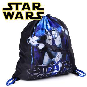 KINDER TURNBEUTEL / SPORTBEUTEL 36x32 cm - STAR WARS COLLECTION - SCHWARZ