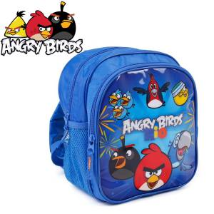 KINDER RUCKSACK 25x22x14 cm - ANGRY BIRDS COLLECTION - BLAU