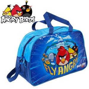 KINDER TASCHE 40x25x13 cm - ANGRY BIRDS COLLECTION - BLAU