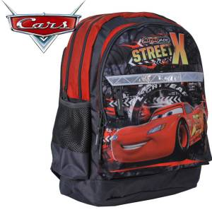 KINDER RUCKSACK 42x29x17 cm - DISNEY CARS COLLECTION - GRAU / ROT