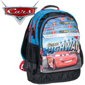 KINDER RUCKSACK 42x29x17 cm - DISNEY CARS COLLECTION - SCHWARZ / BLAU / ROT