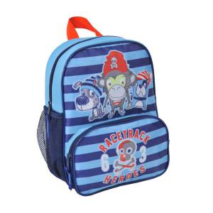 KINDER RUCKSACK 29x22x12 cm - AFFE & HUND - KIDS COLLECTION - BLAU