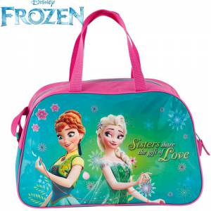 KINDER TASCHE 40x25x13 cm - DISNEY FROZEN COLLECTION - PINK / TÜRKIS