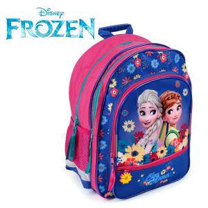 KINDER RUCKSACK 38x29x20 cm - DISNEY FROZEN COLLECTION - PINK / BLAU