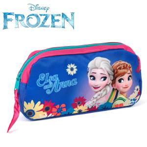 KINDER FEDERTASCHE 20x10x4 cm - DISNEY FROZEN COLLECTION - BLAU / PINK