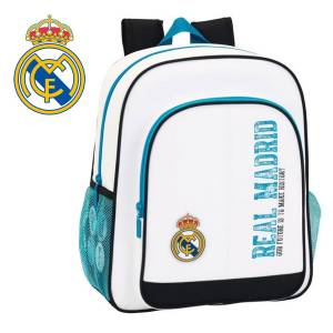 REAL MADRID CF - JUNIOR RUCKSACK 32 x 12 x 38 CM - KOLLEKTION WEISS/TÜRKIS