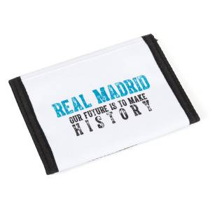 REAL MADRID CF - PORTEMONNAIE 12,2 x 9 x 1,5 CM - KOLLEKTION WEISS/TÜRKIS Bild 3