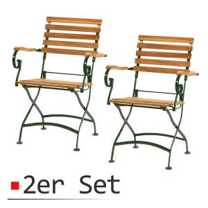 2ER-SET PLOSS TEAK STUHL