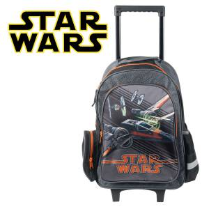 KINDER TROLLEY 49x34x21 cm - STAR WARS X-WING - SCHWARZ / GRAU / ORANGE