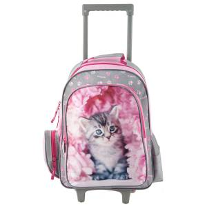 KINDER TROLLEY 49x34x21 cm - RACHAEL HALE COLLECTION - GRAU / PINK