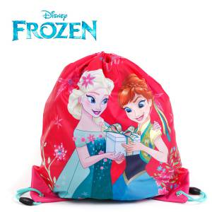 KINDER TURNBEUTEL / SPORTBEUTEL 36x32 cm - DISNEY FROZEN COLLECTION - PINK / GRÜN