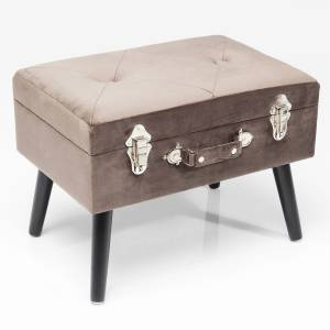 HOCKER SUITCASE SAMT GRAU - KARE DESIGN