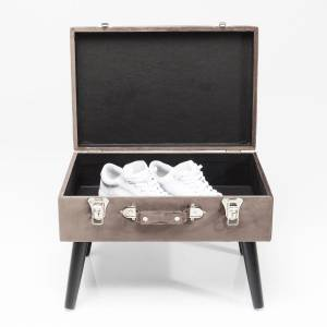 HOCKER SUITCASE SAMT GRAU - KARE DESIGN Bild 6