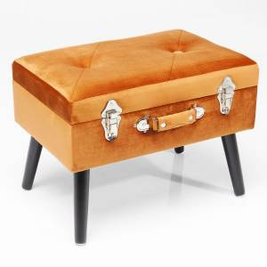 HOCKER SUITCASE SAMT ORANGE - KARE DESIGN