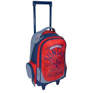 KINDER TROLLEY 49x34x21 cm - SUNSAIL ROT / ORANGE