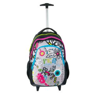 KINDER TROLLEY 45x29x24 cm - GREAT- SCHWARZ / PINK