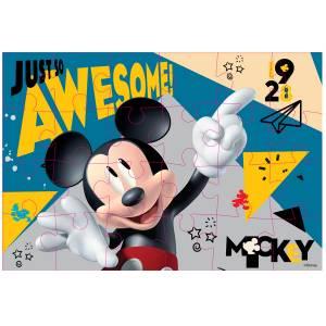 MICKY MAUS - PUZZLE 2-SEITIG ZUM AUSMALEN (24 TEILE) Bild 2