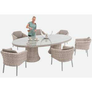 SKYLINE DESIGN® FLORENCE DINING LOUNGE SET: 1x TISCH + 6x ARMCHAIR
