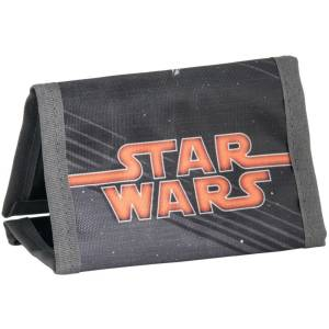 KINDER PORTEMONNAIE 12x8x1,5 cm - STAR WARS - SCHWARZ / ORANGE