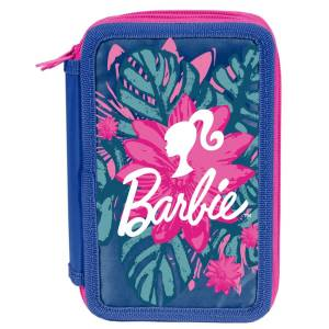 KINDER FEDERTASCHE - BARBIE - BLUMEN - BUNT