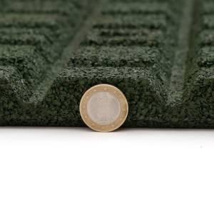 4 STÜCK = 1 m²  50 x 50 CM GUMMI FALLSCHUTZPLATTE 25 MM DICK - GRÜN Bild 5